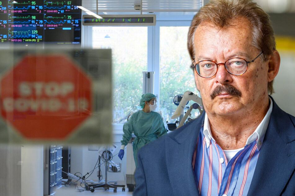 Im Team von Professor Michael Albrecht (70) wird die Verteilung der Corona-Kranken für 35 ostsächsische Krankenhäuser koordiniert