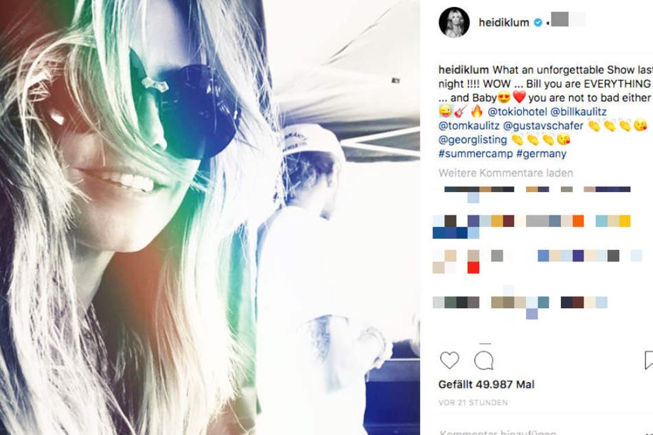 """""""BABY, du bist auch nicht so schlecht"""", neckte das Topmodel seinen Schatz Tom Kaulitz (28) auf Instagram."""
