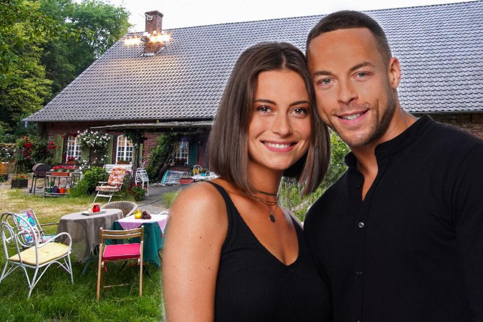 """Jennifer Lange (26) und Andrej Mangold (33) polarisieren mit ihrem Auftritt im """"Sommerhaus der Stars"""". (Fotomontage)"""