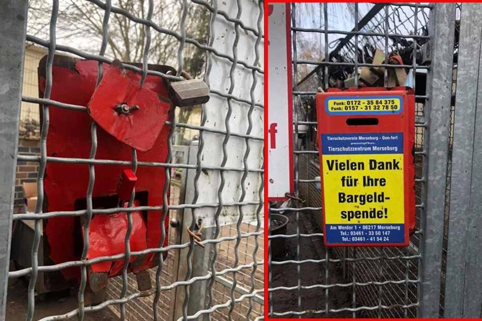 Mit Gewalt wurde die Spendenbox aufgeschlagen.