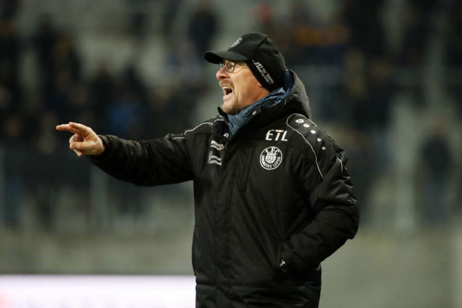 Seine Mannschaft holte gegen Viktoria Berlin nur ein torloses Remis: Lok-Coach Wolfgang Wolf.