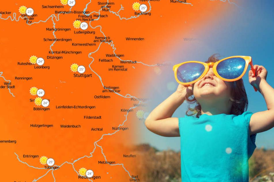 Sonnige Aussichten für die Region: bis zu 25 Grad sind am Montag drin.