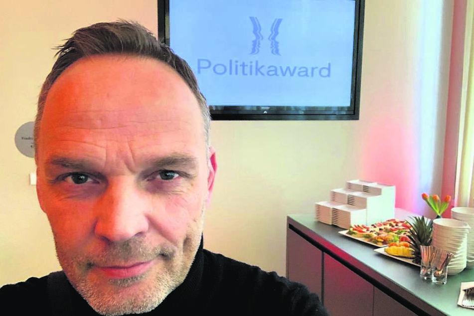 Stolzer Bürgermeister: Dirk Neubauer (46, SPD) ließ beim Politik-Award 2018 prominente Vertreter hinter sich.