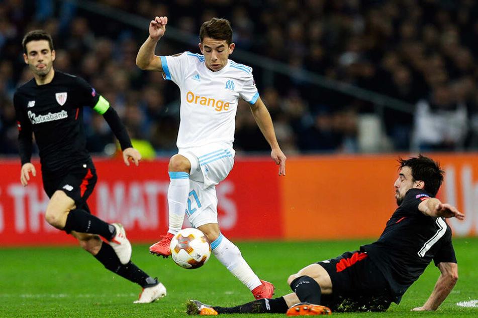 Olympique-Marseille-Mittelfeldspieler Maxime Lopez (M.) soll vom BVB beobachtet worden sein.