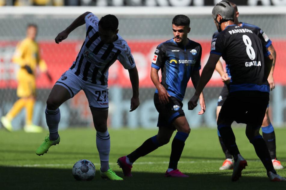 Chancen nicht genutzt: Der SC Paderborn 07 unterlag dem effektiven SC Freiburg am Ende.