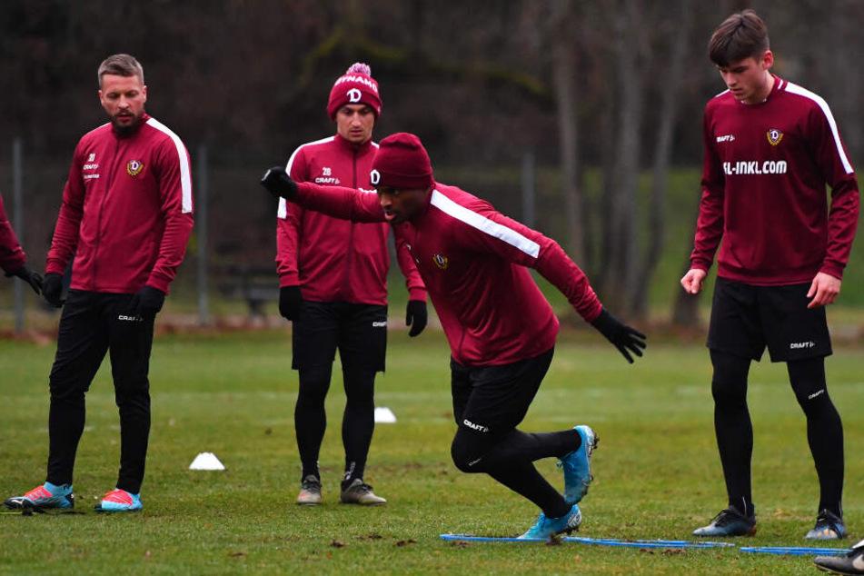 Joy-Lance Mickels durfte gestern erstmals bei Dynamo mittrainieren und wird morgen in Zwickau sein Können zeigen dürfen.