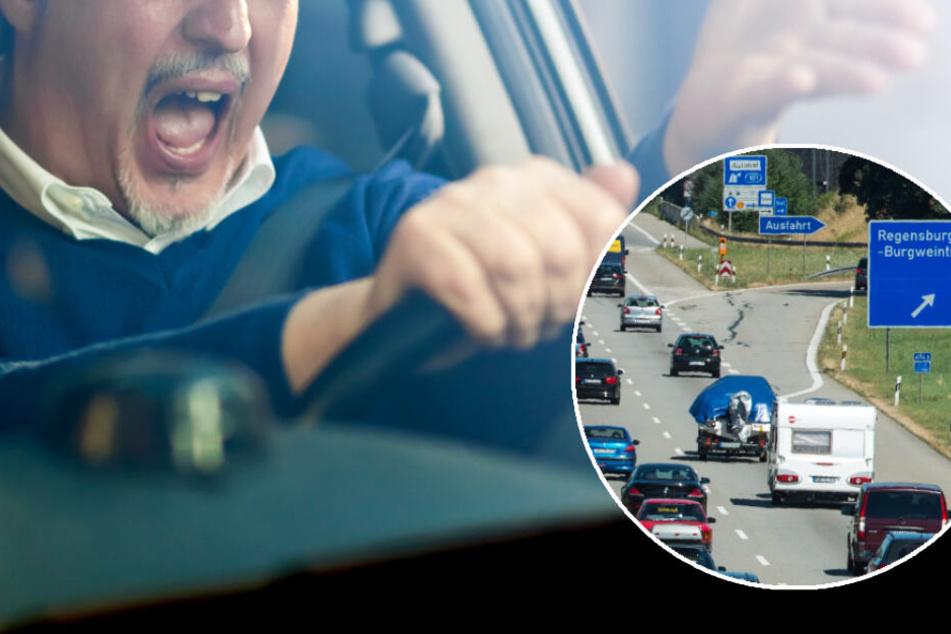 Unglaublich! Männer starten mitten auf der Autobahn eine Prügelei