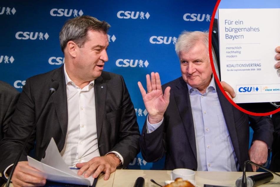 Koalitionsvertrag unterzeichnet: Weg frei für Söders Wiederwahl