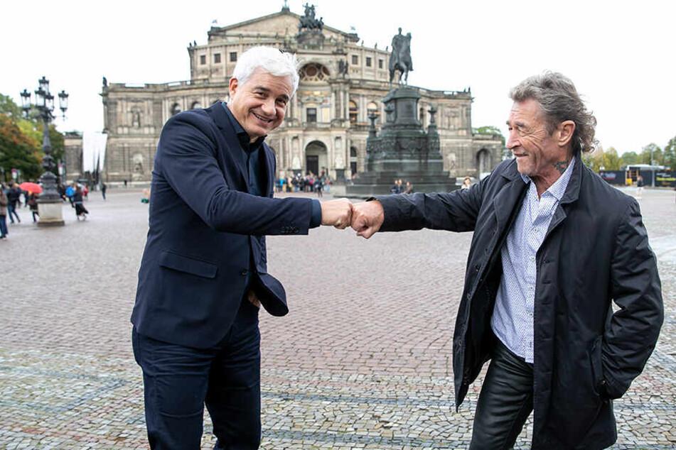 Das passt: Opernball-Chef Hans Joachim Frey (54, l.) und Peter Maffay (70) freuen sich auf eine rockige Mitternacht.