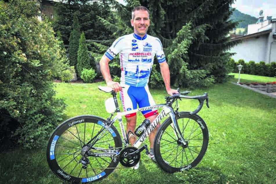 """Sonst fährt Matthias Reinfried (42) eher """"normale"""" Radrennen, aber: """"Ich habe  den Startplatz als Geschenk zu meinem 40 Geburtstag bekommen."""""""