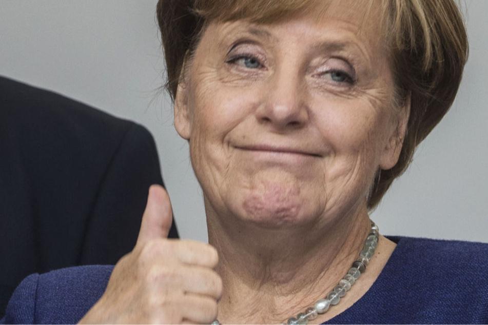 Angela Merkel sprach in Gießen zu etwa 3000 Zuschauern.