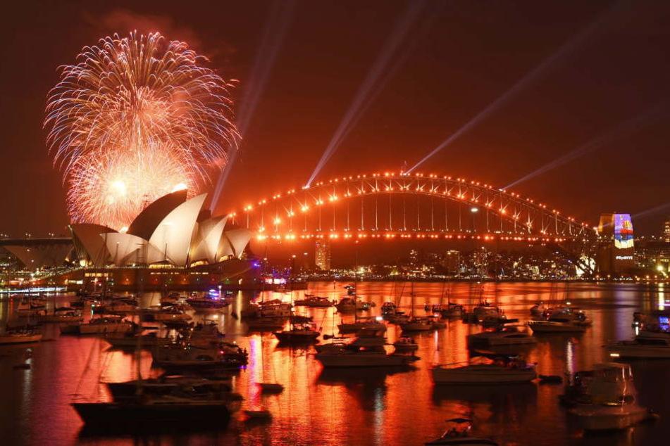 Das Feuerwerk im Hafen von Sydney ist einfach immer das schönste.