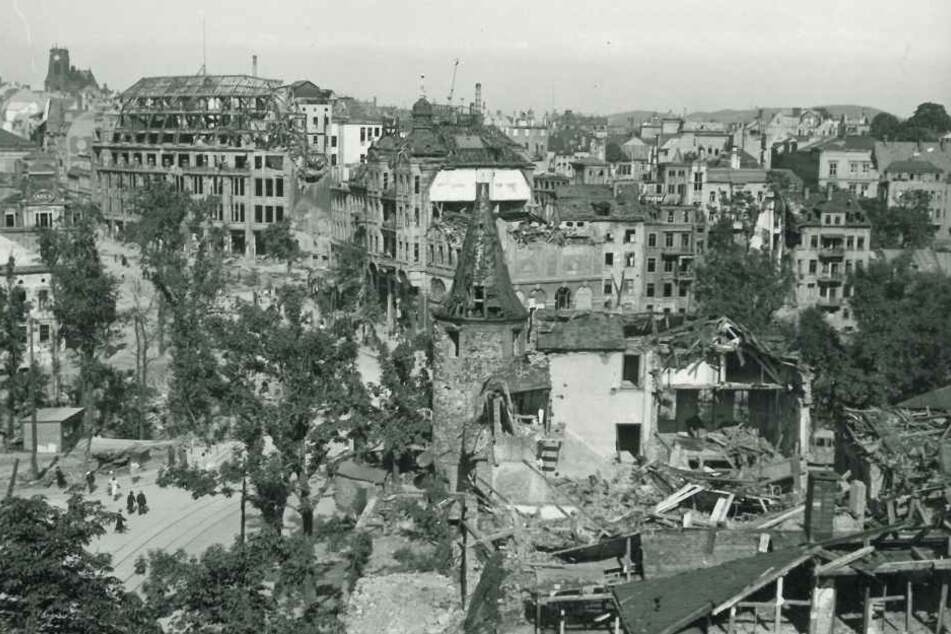Die Alliierten warfen im Krieg fast 50.000 Bomben auf Plauen und zerstörten die Stadt.