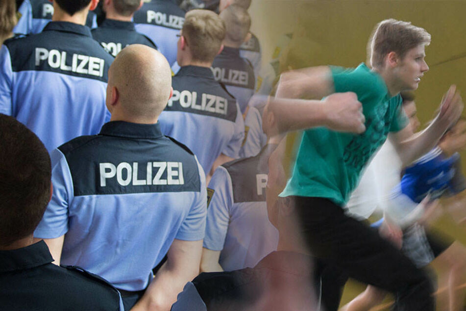 Es kommt doch auf die Größe an: Neben körperlicher Fitness sollte man besser nicht zu klein sein, sonst kann man sich eine Laufbahn als Polizist in die Schublade legen. (Bildmontage)