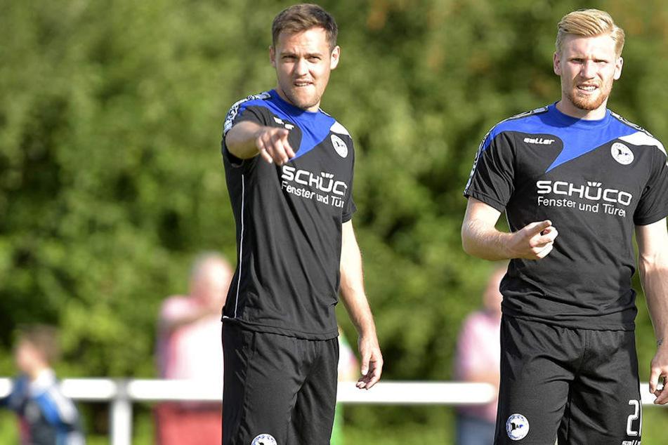 Steffen Lang und Andreas Vogelsammer wollen gegen Greuther Fürth die nächsten Punkte einsammeln.