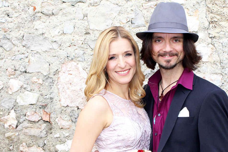 Stefanie Hertel (38) und ihr Lanny (43) bei ihrer Hochzeit 2014.