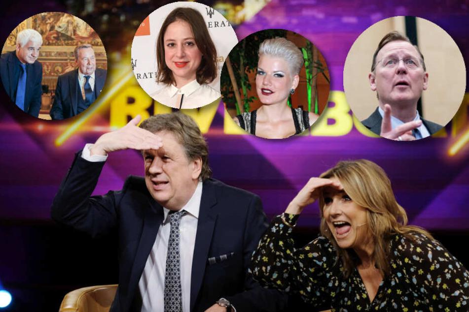 """Jörg Kachelmann und Kim Fisher begrüßen heute Abend zahlreiche Prominente aus Politik, Gesellschaft und Showbizz im """"Riverboat""""-Studio."""