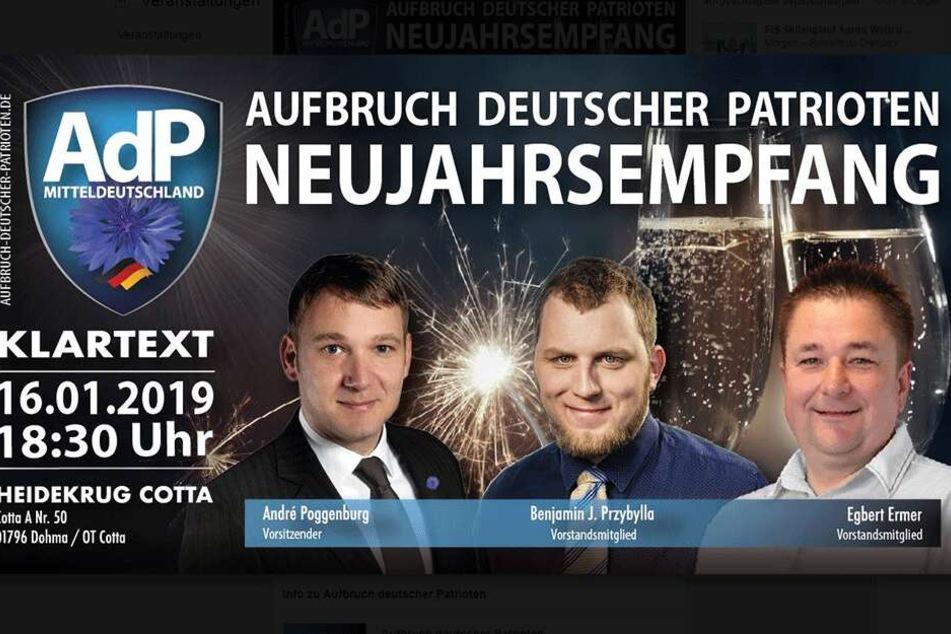 Die erste offizielle Veranstaltung der neuen Partei findet kommende Woche in Dohma bei Pirna statt.
