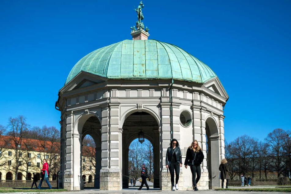 In München und Bayern dürfen sich die Menschen über ein sonniges Wochenende freuen.