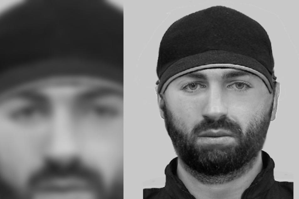 Mit diesem Phantombild sucht die Polizei Lippe nach dem mutmaßlichen Täter, der eine Joggerin überfallen hat.