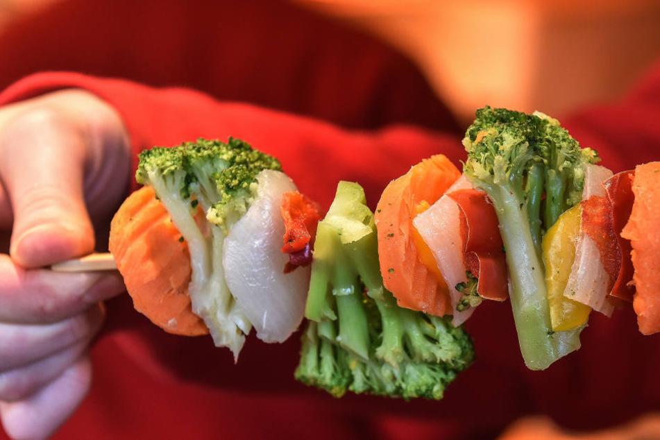 Ein Gemüse-Spieß - garantiert kalorienarm.