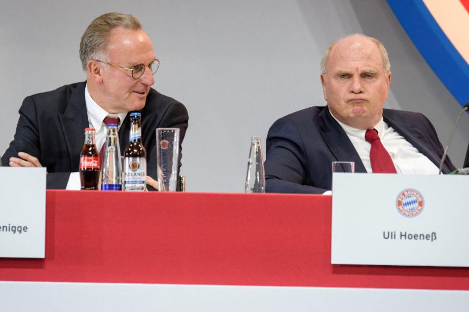 Karl-Heinz Rummenigge und Uli Hoeneß sorgten mit ihrer Spontan-PK für mächtig Wirbel.