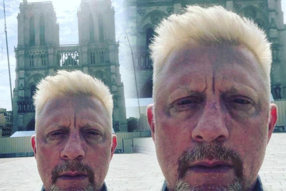Boris Becker postet Selfie vor Notre Dame, doch seine Fans interessiert etwas ganz Anderes