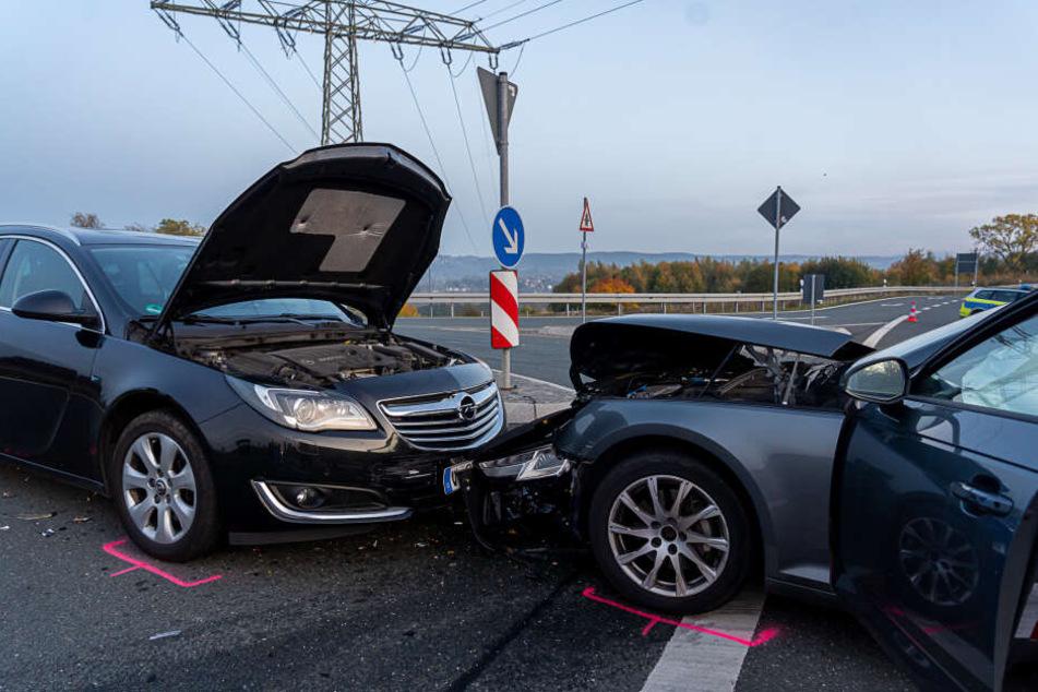 Die Umgehungsstraße wurde nach dem Unfall voll gesperrt.