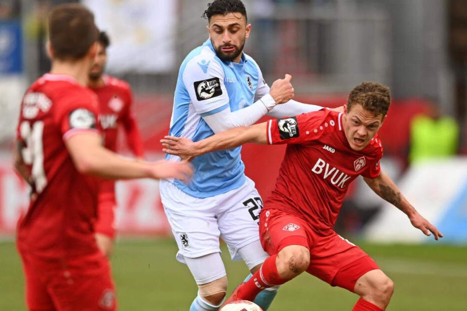Der TSV 1860 München unterlag beim Gastspiel in Würzburg umkämpft mit 1:2.