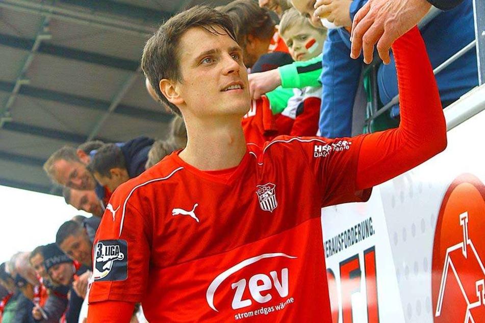 Jonas Acquistapace kam Ende Januar zum FSV. Ob es für den Abwehrmann in Zwickau eine Zukunft gibt, ist noch ungeklärt.