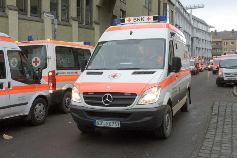 Schon am Sonnabend wurde mit der Evakuierung eines Pflegeheimes begonnen.