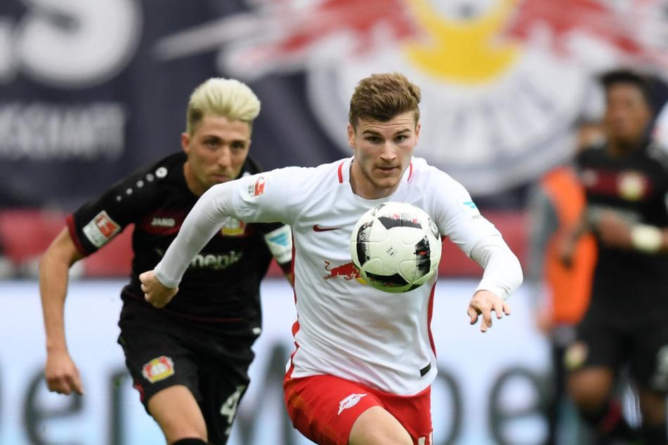 Bald zusammen auf dem Platz? Leverkusens Kevin Kampl (l.) steht kurz vor einem Wechsel zu RB Leipzig um Timo Werner (r.)