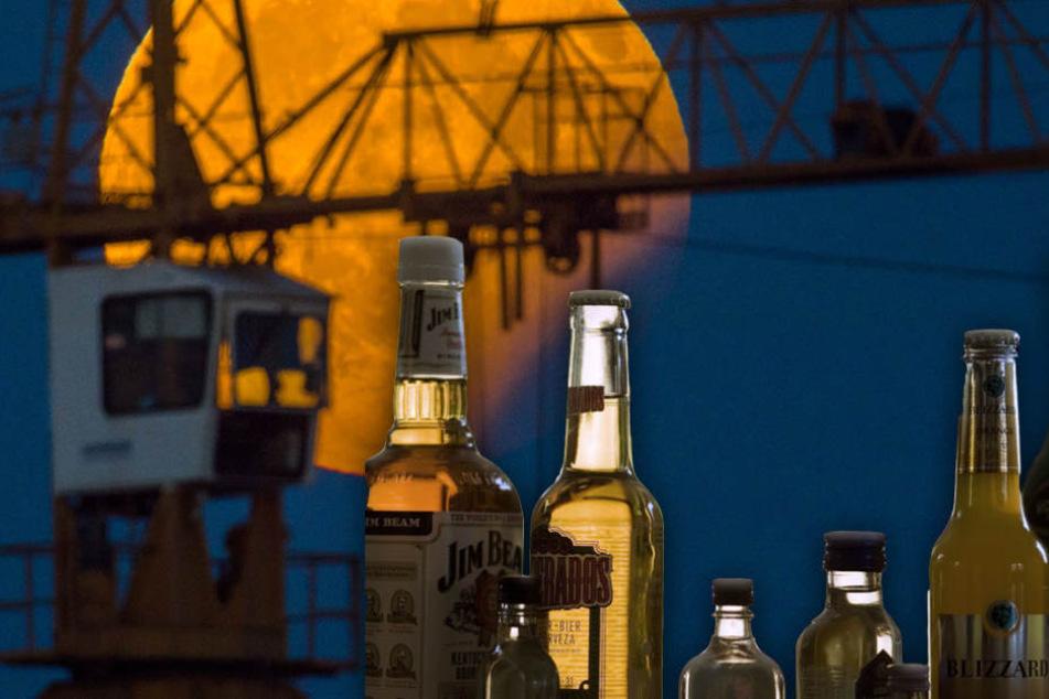 Die Jugendlichen schlichen sich auf den Baukran mit Alkohol im Gepäck. (Symbolbild)