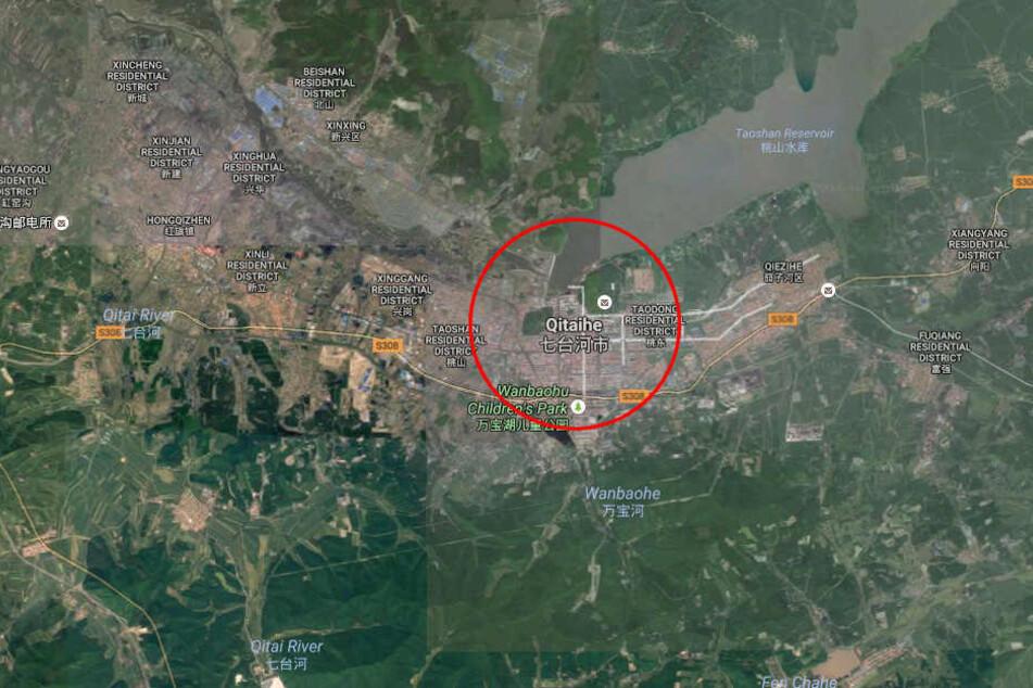 Nahe der Stadt Qitaihe sind 22 Bergeleute nach einem Unglück unter Tage eingeschlossen.