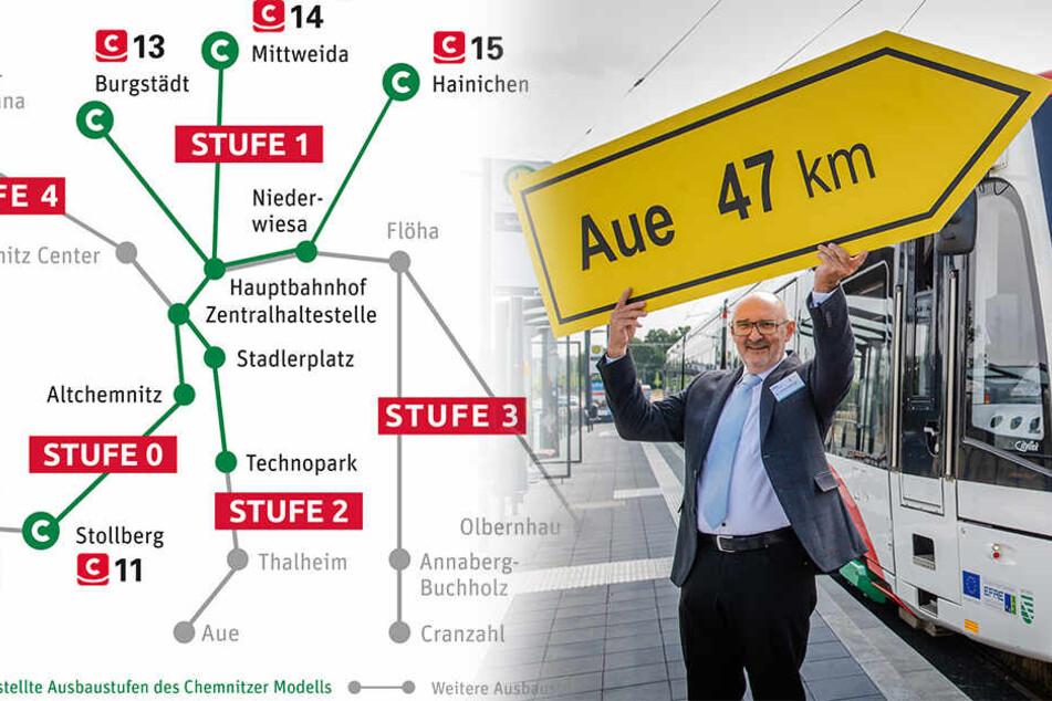 Baurecht erteilt: So plant der VMS die Strecke von Aue nach Chemnitz