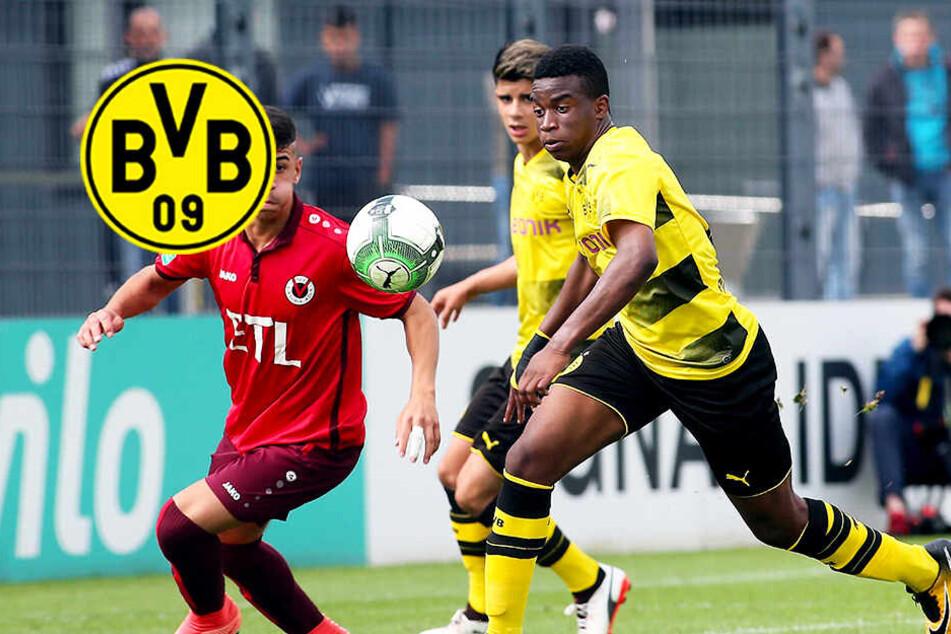 """BVB-""""Wunderkind"""" Youssoufa Moukoko nimmt WSV mit sechs Toren auseinander!"""