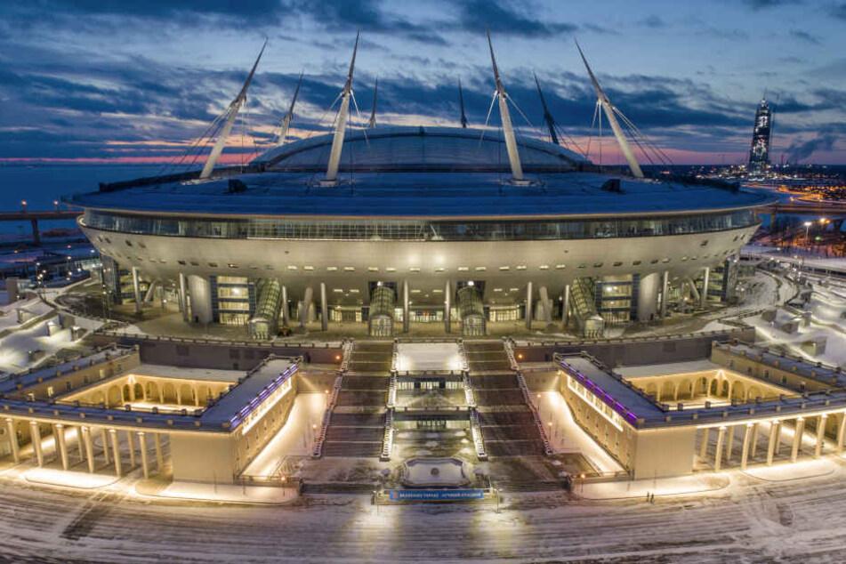 Das neu gebaute WM-Stadion in Sankt Petersburg: Hier wird RB Leipzig am 15. März gegen Zenit spielen.