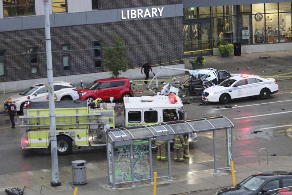 Zwei Kinder starben bei dem Unfall. Auch der Tatverdächtige ist laut Polizei im Krankenhaus.