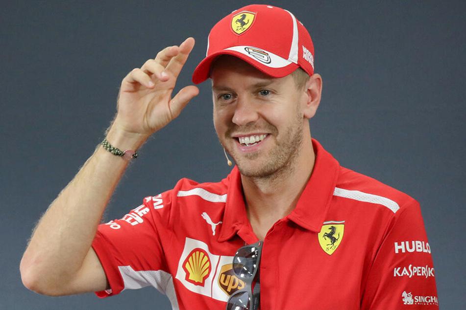 """Der neue Formel-1-Rennwagen von Sebastian Vettel (31) heißt """"Lina""""."""