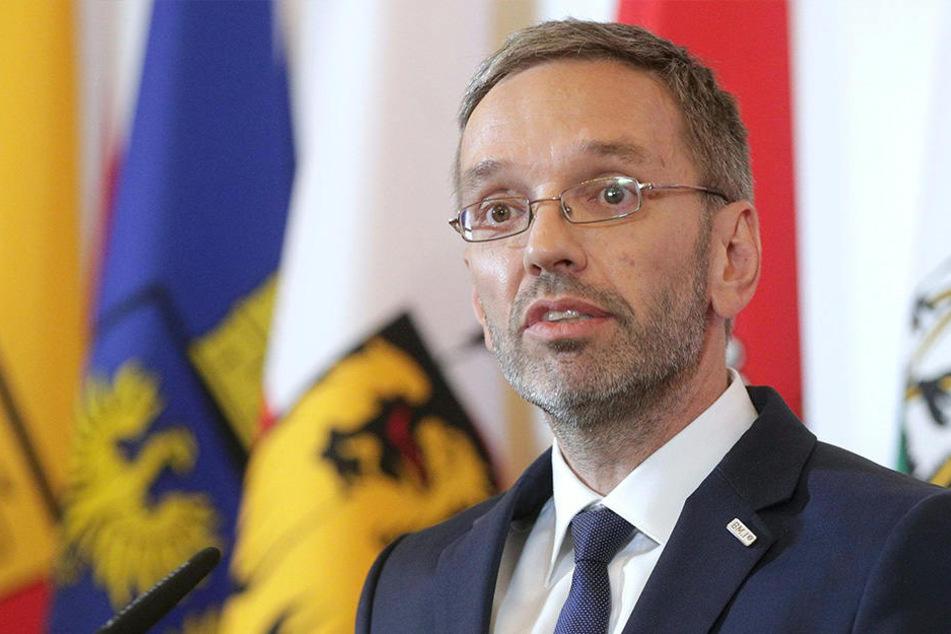 Österreichs Innenminister Herbert Kickl (FPÖ).