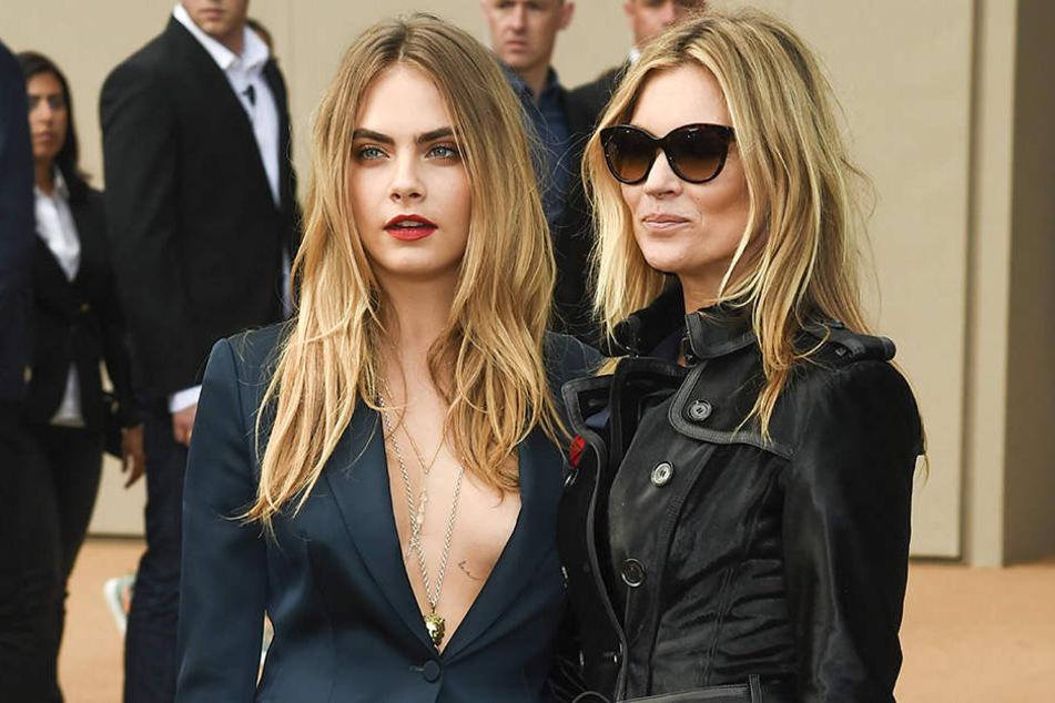 Cara mit Model-Freundin Kate Moss . Die 42-Jährige hatte einen guten Rat für die Augenbrauen-Ikone.