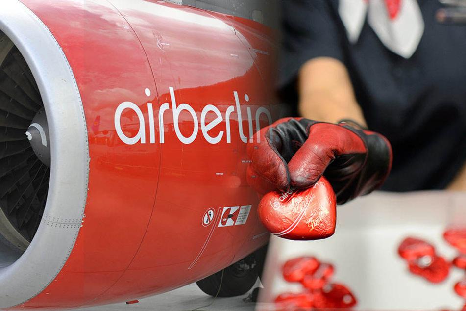 Hier könnt Ihr Flugzeugsitze, Schokoherzen und Co. von Air Berlin ersteigern