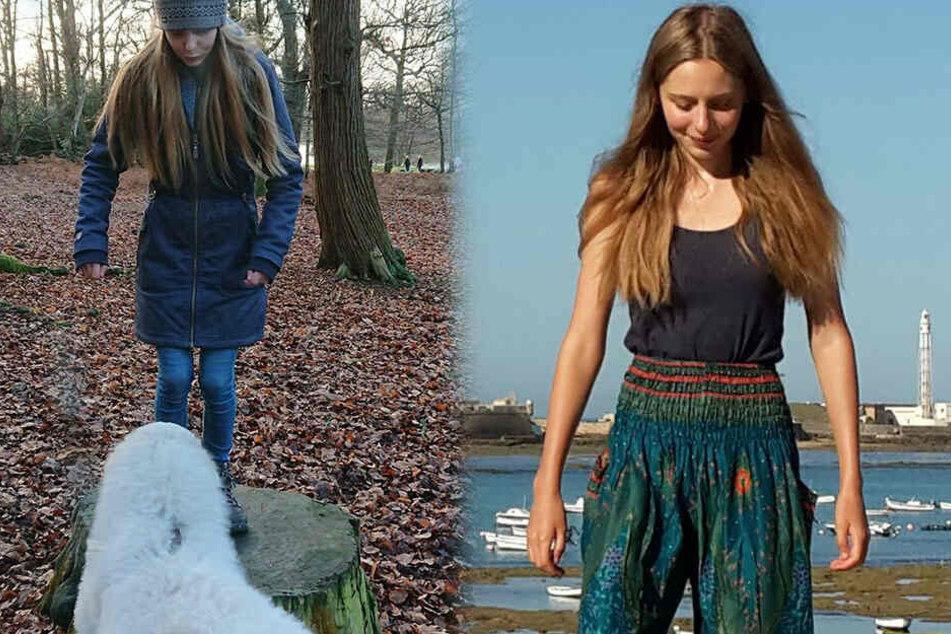 """Evita Gamber (22) und ihr Hund """"Bo""""."""