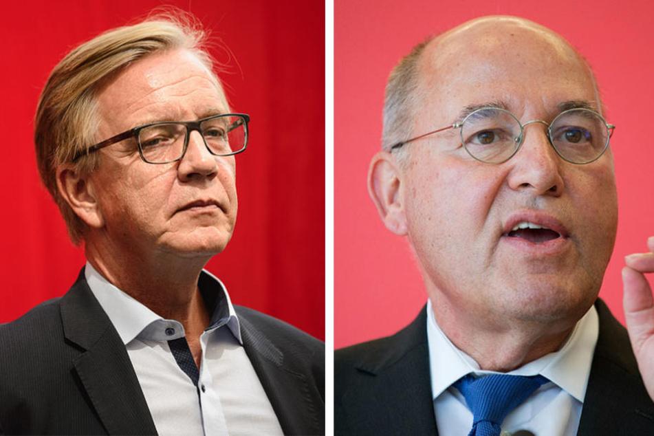 Dietmar Bartsch (li., 59)  und Gregor Gysi (69) wollen die Lebensverhältnisse in Ost und West angleichen.