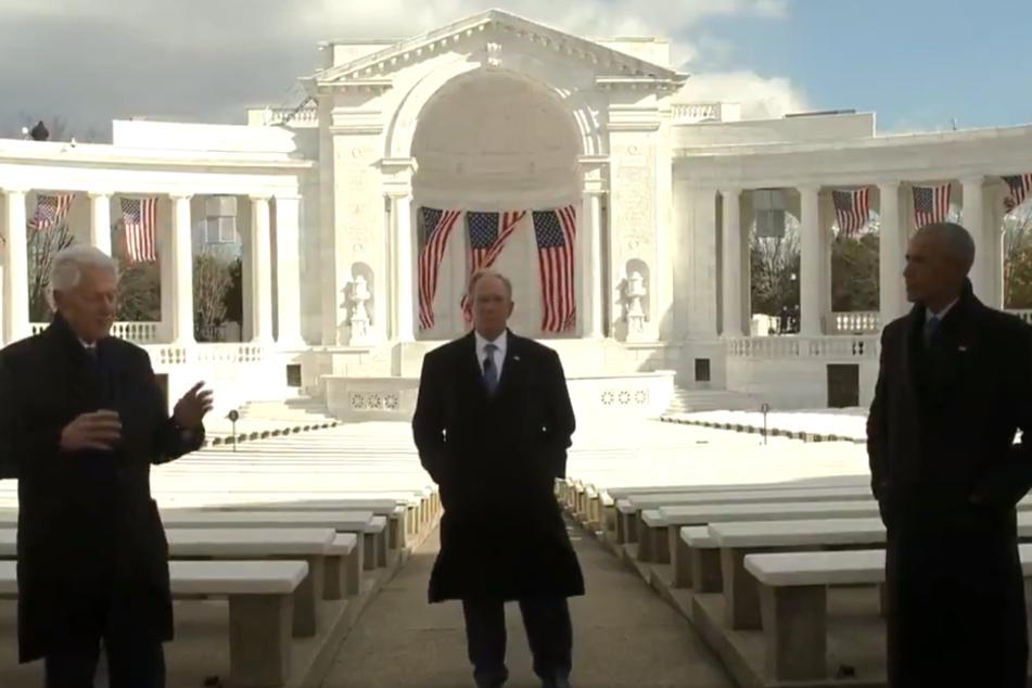In ihrer Video-Botschaft beschworen die früheren Amtsinhaber die gemeinsamen Werte der Vereinigten Staaten von Amerika.