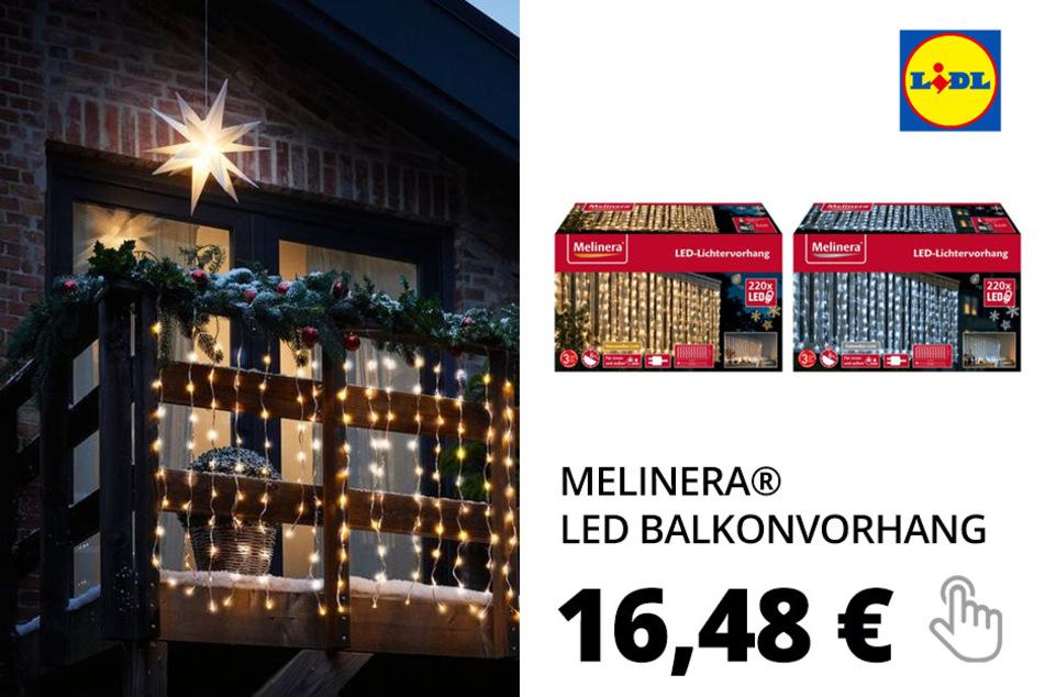 MELINERA® LED Balkonvorhang 2x1m 220 mit 8 Funktionen– Nur online!