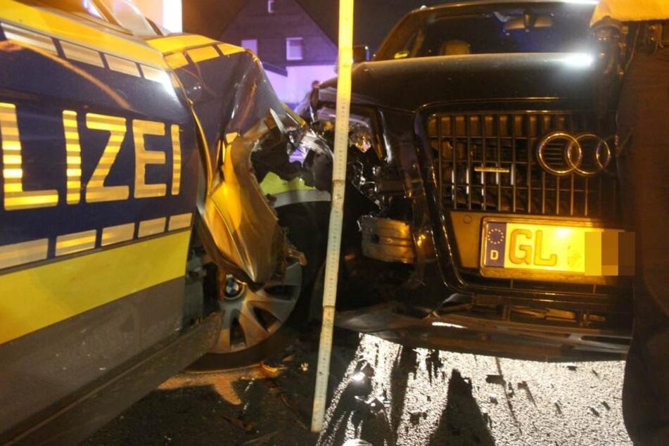 Der Fahrer schrottete bei der Aktion seinen Wagen.