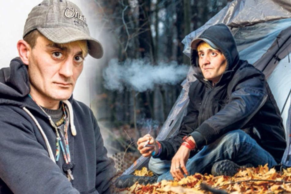Wenn das Zelt zur Wohnung wird: Obdachloser schläft in der Dresdner Heide