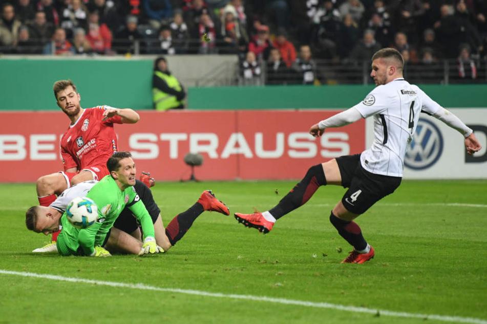 Ante Rebic besorgte nach 17 Minuten die Führung für die Eintracht.
