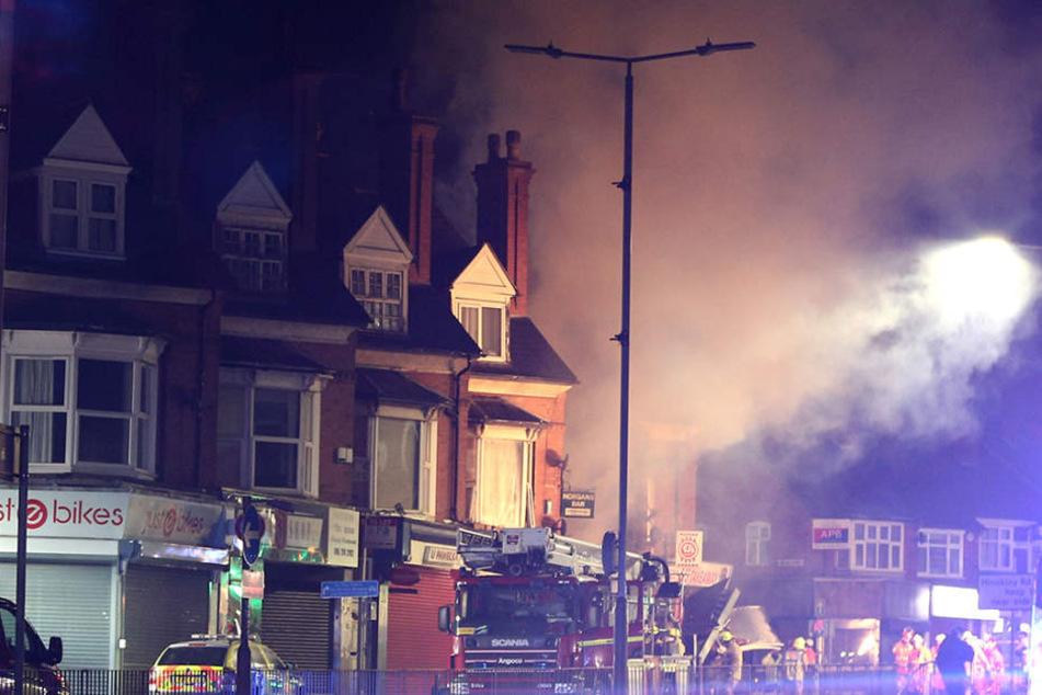 Im englischen Leicester ist ein ganzen Wohnhaus eingebrochen.